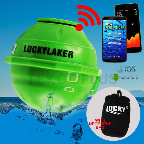 FF-916 LUCKY Wireless Wifi Fish Finder 50M Rechargeable Lithuim Battery 130 FEET (45 Meters) Operation Range