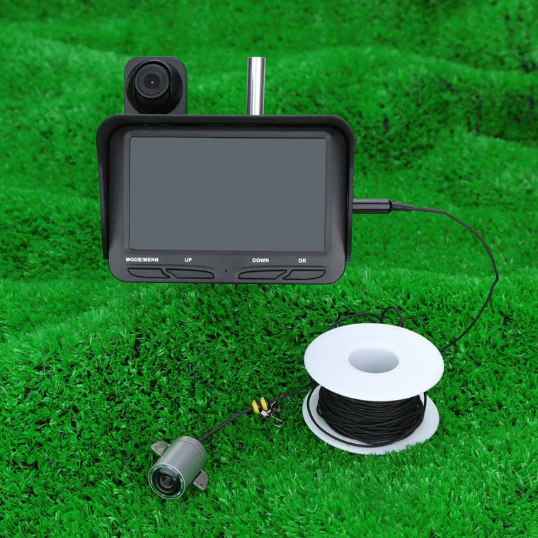 "4.3"" HD Fish Finder TFT LCD Monitor Screen Night Vision  DVR Video 6 Infrared LED Underwater  + Overwater Camera Wide Angle 20M"