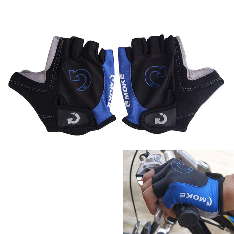 1 Pair Professional Non-Slip Bicycle Gloves Unisex Outdoor Sports Cycling Bike Gel Half Finger Gloves Size S- XL 3 Colors
