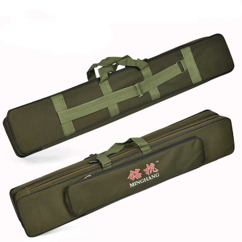 Large Capacity Double Layer Fishing Rod Tackle Bag Fishing Bag 120CM Camouflage Black Green Wholesale