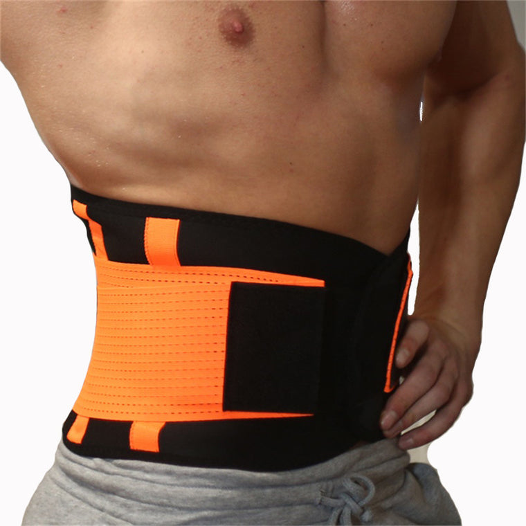Men And Women Lumbar Support Waist Trimmer Belt Neoprene Unisex Exercise Weight Loss Burn Body Shaper Workout Gym Fitness Belt