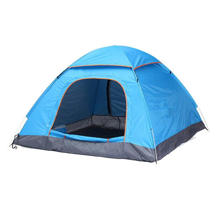 1pcs 3-4 Person Automatic Quick Opening Tent Outdoor Camping Tent 170T fulmargin cloth pole fiberglass Three Season Tourist Tent