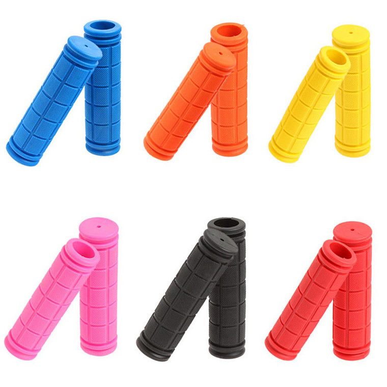 10 colors Rubber Handlebar Grips Bike Bicycle BMX MTB Cycle Mountain Bicycle Handle Bar Grip Fixed Gear End manopla bicicleta