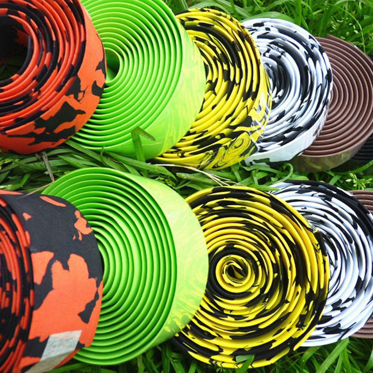 Cheap Colorful Cycling Handle Belt Bike Bicycle Cork Handlebar Tape Wrap +2 Bar Free Shipping