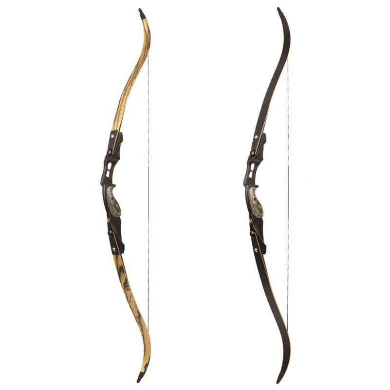 2 Color 30-60 lbs American Hunting Bow 60 Inches Bow in IBO 190FPS with 17 inches Riser Traditional Bow Long Bow Hunting