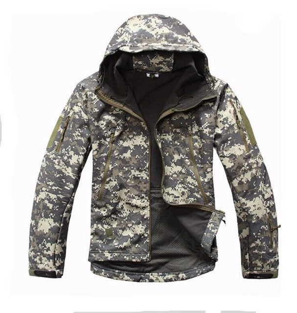 12 Color! TAD Shark Skin Waterproof Military Outdoors Jacket Men Sport Softshell Hike Hunting Tactical Army Hoodie Jacket