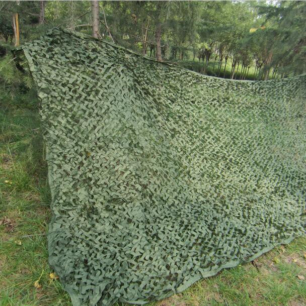 2.5M*3M jungle Camo Netting Green Digital camouflage netting for outdoor sun shelter sniper theme party decoration paintball