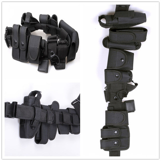 Tactical Police Duty belt Security Belts Tactical Military Training Polices Guard Utility Kit Duty Belt with Pouch Set
