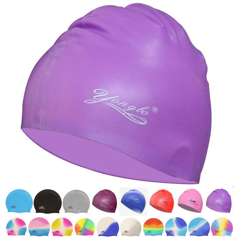New Women Men Waterproof Flexible Silicone Gel Ear Long Hair Protection Swim Pool Swimming Cap Hat Cover for Adult Children Kids