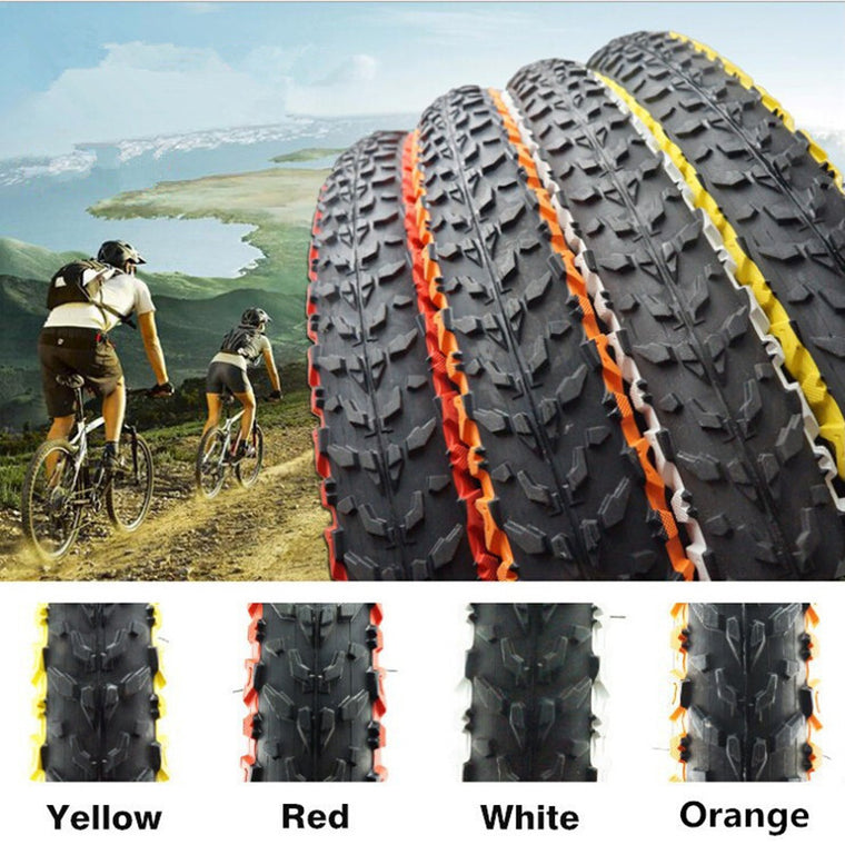 WEST BIKING Bike Color Tire H-5120 26 * 1.95 MTB Bicycle Tire 30TPI Soft Side MTB Bikes Pure Folded Bike Tyre High Speed Tires