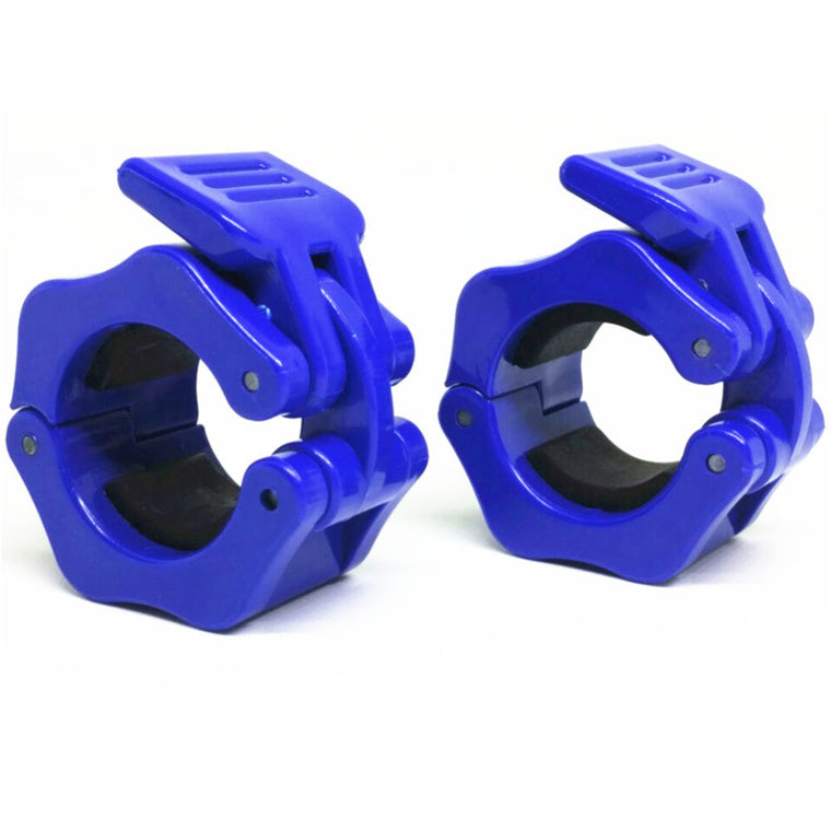 "1 Pair Diameter 1""  (25mm)Weight Lifting Dumbbell Collar Olympic Barbell Spinlock Clips Gym CrossFit Fitness Clamps Blue"