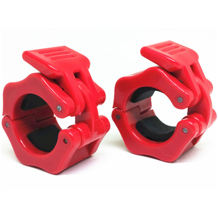 "1 Pair Diameter 1.1""  (28mm)Weight Lifting Dumbbell Collar Olympic Barbell Spinlock Clips Gym CrossFit Fitness Clamps Red"