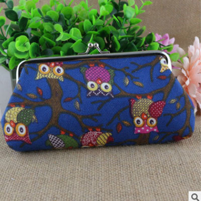 Creative Canvas Coin Purse Owl cloth travel shopping bag women,womens wallets and purses