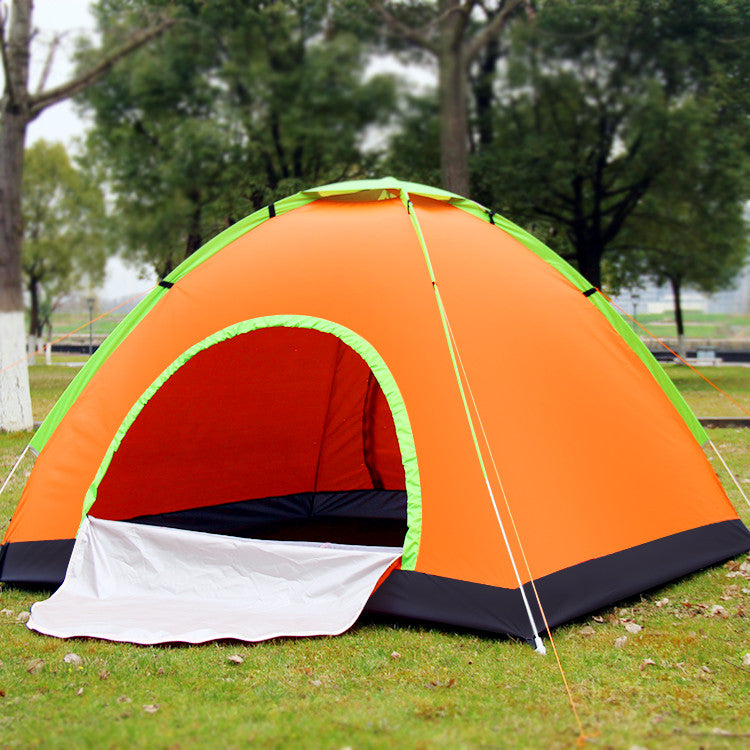 3/4 Person Outdoor Portalbe Quick Automatic Opening Outdoor one bedroom nylon Hiking Waterproof Sunscreen Mosquito Tent