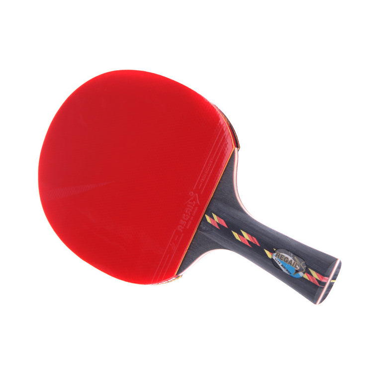 Best Quality Wood Bat Handle Table Tennis Rackets Red Rubbers Pingpong Paddle Short Holder Straight Grip Offensive Racket