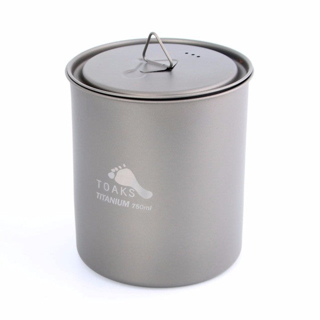 TOAKS Ultralight 750ml Titanium Pot  Portable Titanium Water Mug Outdoor Camping Cooking Picnic