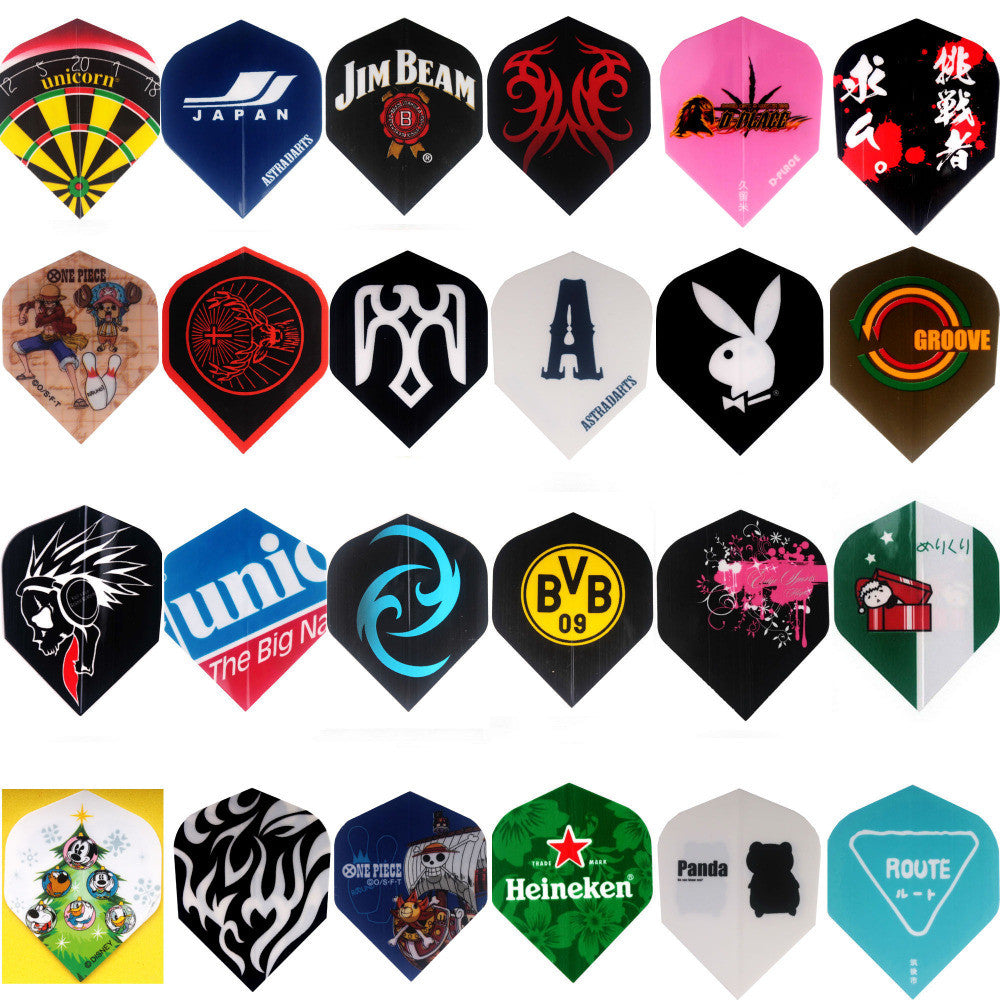 Lot of 72 Dart Flights in 24 Kinds of Different Patterns Flight  for Darts Set NEW