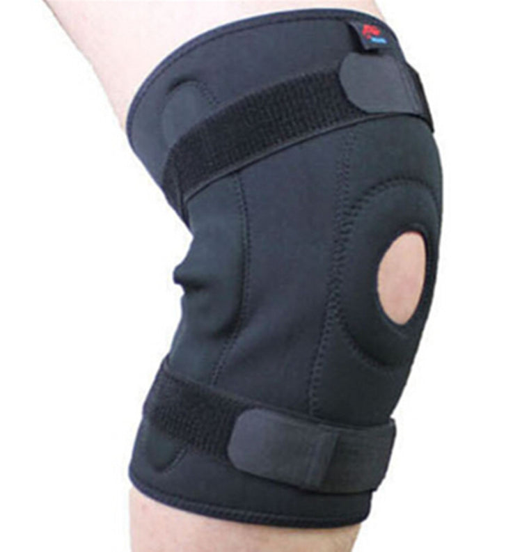 1PCS  training exercise  riding hiking climbing SBR kneepad with steel plate   professional protective knee brace support