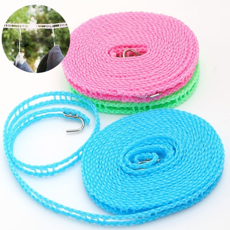 1 pc Top Travel camping Clothesline Laundry Non-slip Washing Clothes Line Rope Outdoor sporting goods