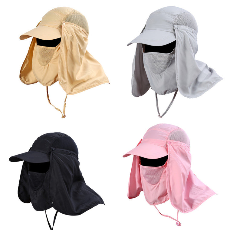 UV Protection Face Protector Hat 360 Degree Quick Drying Neck Ear Cover Cap Fishing Hiking