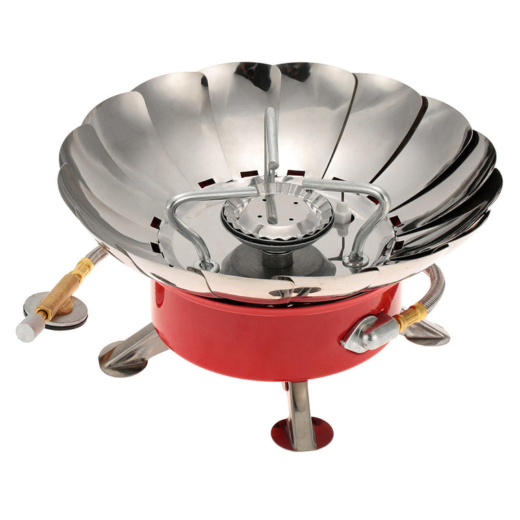 Portable Gas Stove Retracted Windproof Camping Backpacking Gas Stove for Flat Butane Gas Cartridge Outdoor Camping Equipment