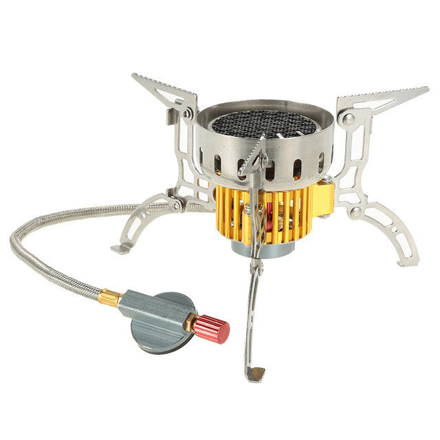 Mini Outdoor Stove Infrared Camping Stove Windproof Gas Stove Ultralight Portable Burner Furnace Collapsible for Cookout Picnic