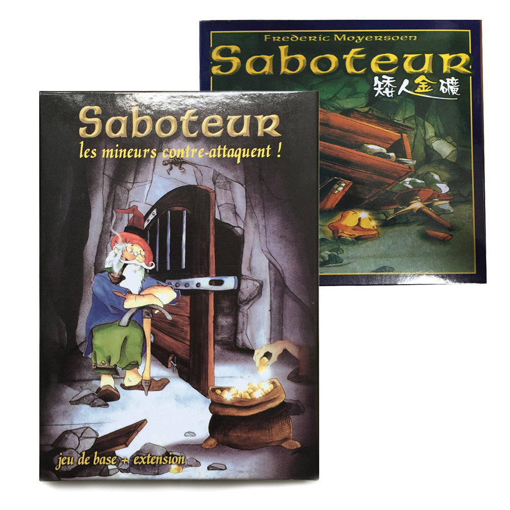'Saboteur 1' & 'Saboteur 1+2 Expansion' - Board Game Good Quality 2~12 Players - Party game - Vintage treasure game - Saboteur