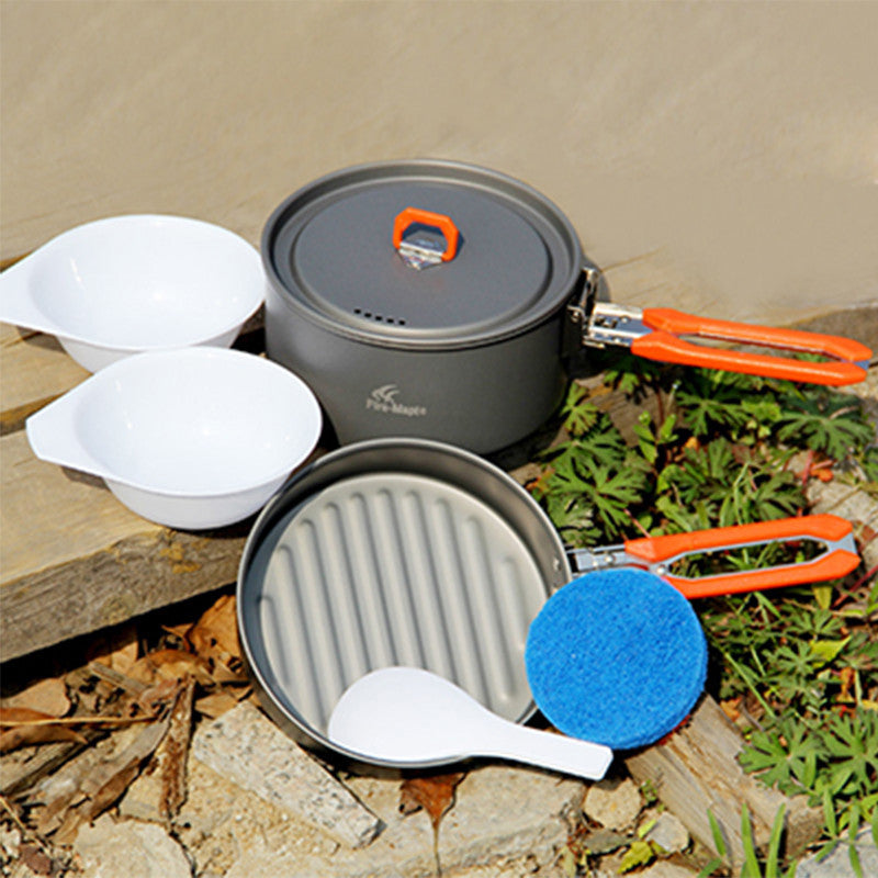 1-2 Person Cooking Pot Camping Cookware Outdoor Pot Sets Camping Hiking Cookware Picnic Sets Fire Maple Feast 1