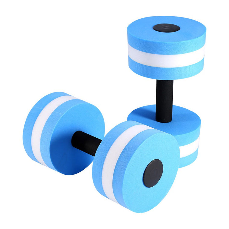 1 Pair Water Aerobics Dumbbell Medium Aquatic Barbell Aqua Fitness Pool Exercise indoor equipment High quality body slimming