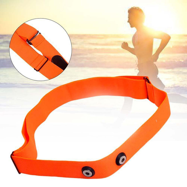 High Quality Orange Elastic Chest Belt Strap Band for Wahoo Garmin Polar Sport Running Heart Rate Monitor for Bluetooth 4 0