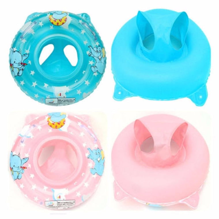 New Inflatable Baby Child Handle Safety Seat Float Swim Ring Raft Chair Pool Swimming Rings