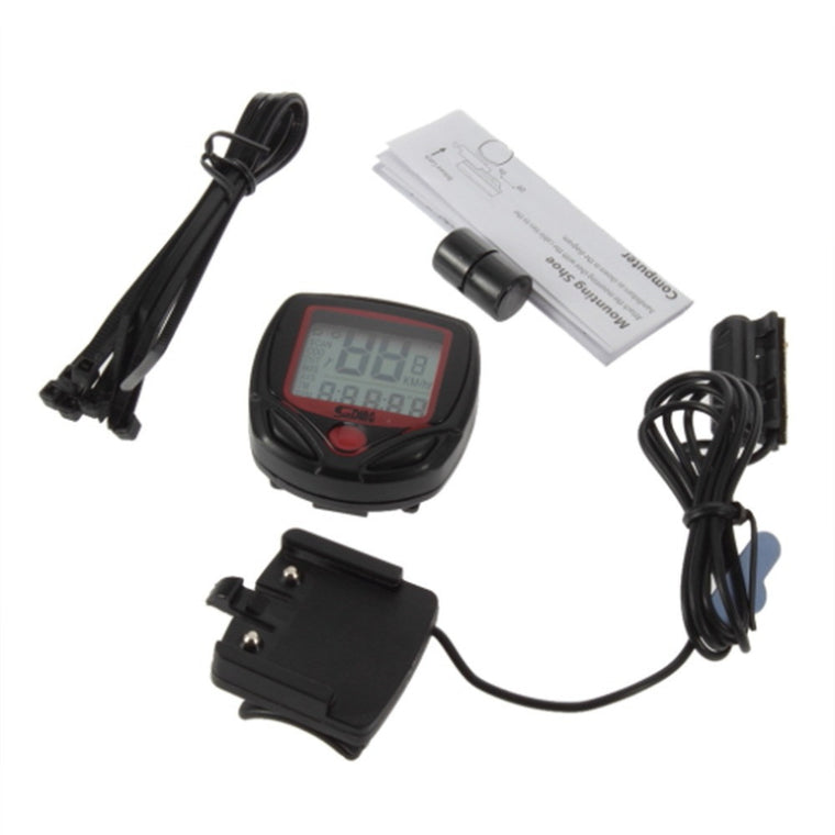 Cycling Bike BicyclComputer Leisure 14-Functions Odometer Speedometer With LCD Display Bike Speedometer Bicycle Cycling Computer