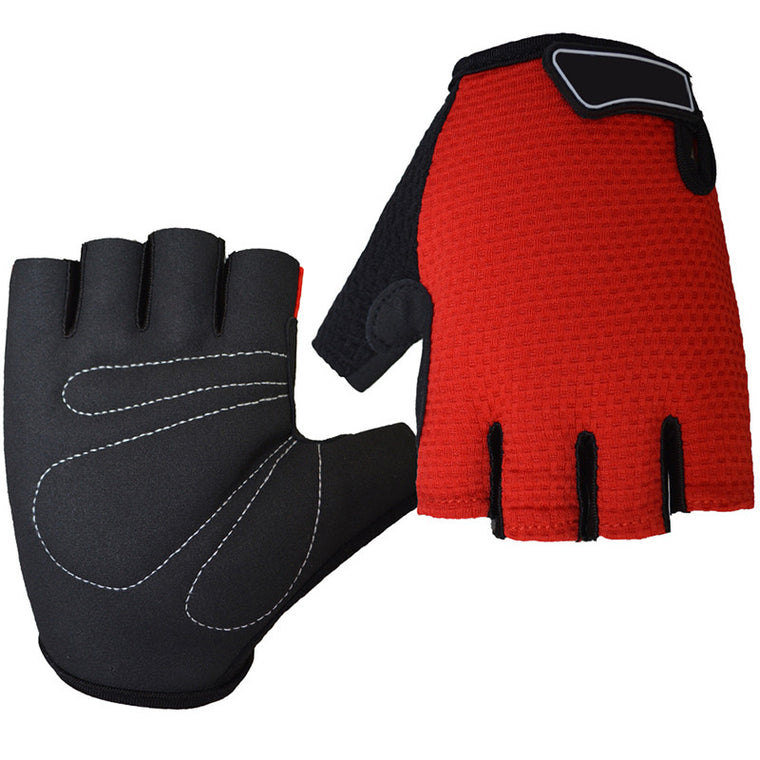Unisex Antiskid Gel Cycling Gloves Sports Racing Bicycle Half Finger Men's Summer Breathable Elastic Gloves Guantes Ciclismo