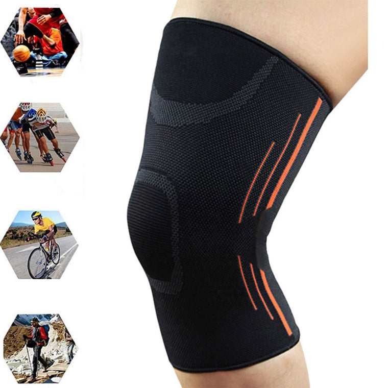 Sports Leg Knee Compression Sleeve Support Fitness Gym Running Joint Pain Relief