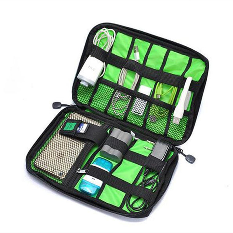 Travel Handbag Organizer Bag Case Holder Pounch For Management Gadgets Charger Cable