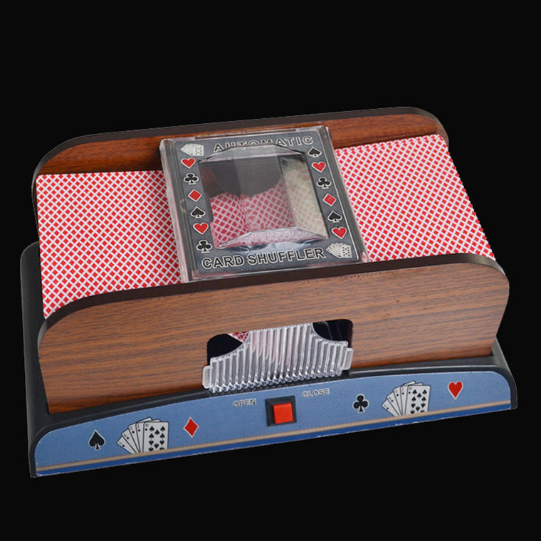 Advanced Poker Robot 1-2 Decks Shuffling Playing Cards Wooden Shuffler Poker Card Shuffler Automatic Machine