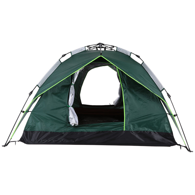 3 Person Pop Up Windproof Waterproof Automatic Tent Quick Open Beach Camping Tent Two-layer Double Door 200 * 200 * 140cm
