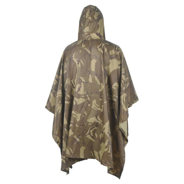 VILEAD 6 Colors Multifunction Military Raincoat Emergency Camo Rain Poncho for Camping Hiking Hunting Poncho Shelter Travel Kits