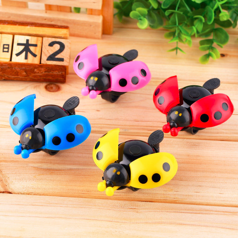 Lovely Kid Beetle Ladybug Ring Bell For Cycling Bicycle Bike Ride Horn Alarm free shipping