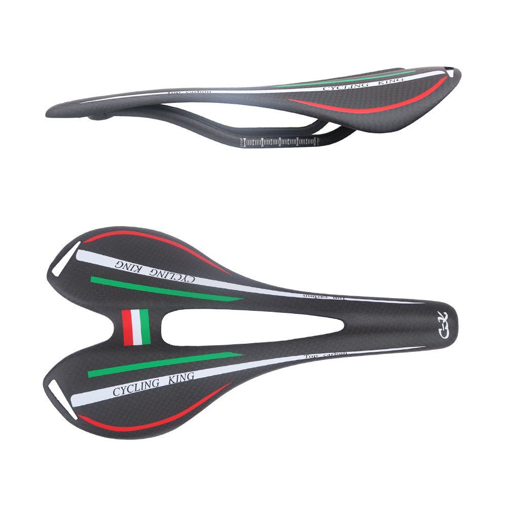 CYCLING KING  c-k new design15-2  italy Flag colors full carbon seat  saddle  road bike 275*143mm 95g