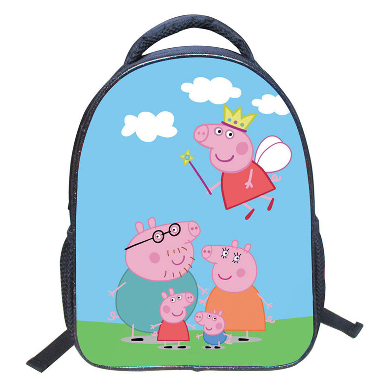 14inch Peppa Pig Cartoon Children School Bags George Backpack Students Kindergarten Book Bag Kids Girls Mochilas Holiday Gifts