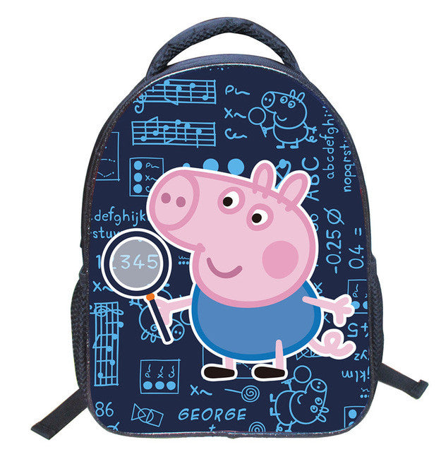 ... 14inch Peppa Pig Cartoon Children School Bags George Backpack Students  Kindergarten Book Bag Kids Girls Mochilas 20abb0fa8149a