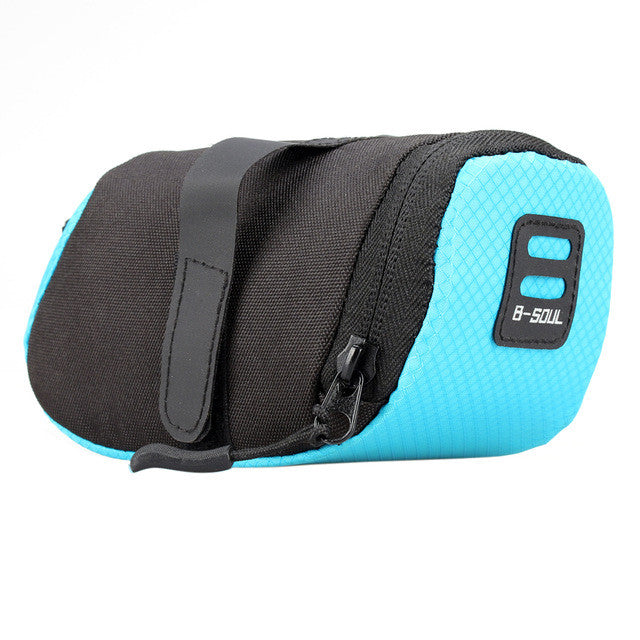 Cycling Bike Saddle Seat Bag Bicycle Waterproof Key Phone Wallet Storage Saddle Bag Cycling Tail Rear Pouch Attached Lamp Belt