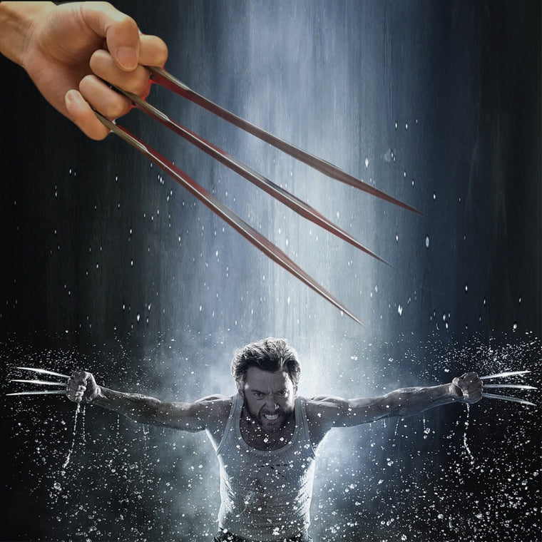 2pcs Wolverine Claws ABS 1:1 Movie Props X-Men Marvel Toy Gift Cosplay Forever Logan Outdoor Fitness Strength