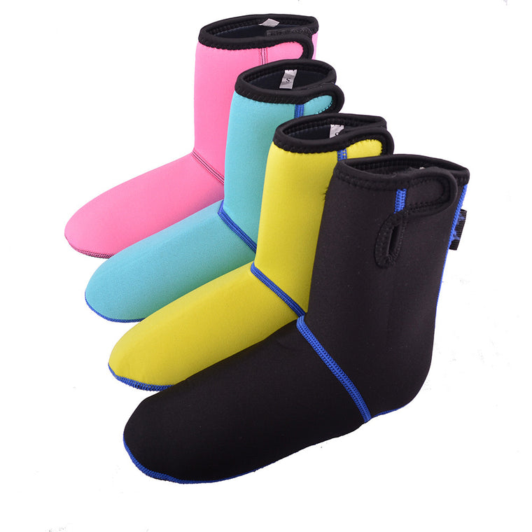 3MM Neoprene Socks long Beach Non-slip Antiskid Snorkeling Scuba Diving Socks Boots Fins Flippers Wetsuit Seaside Shoes