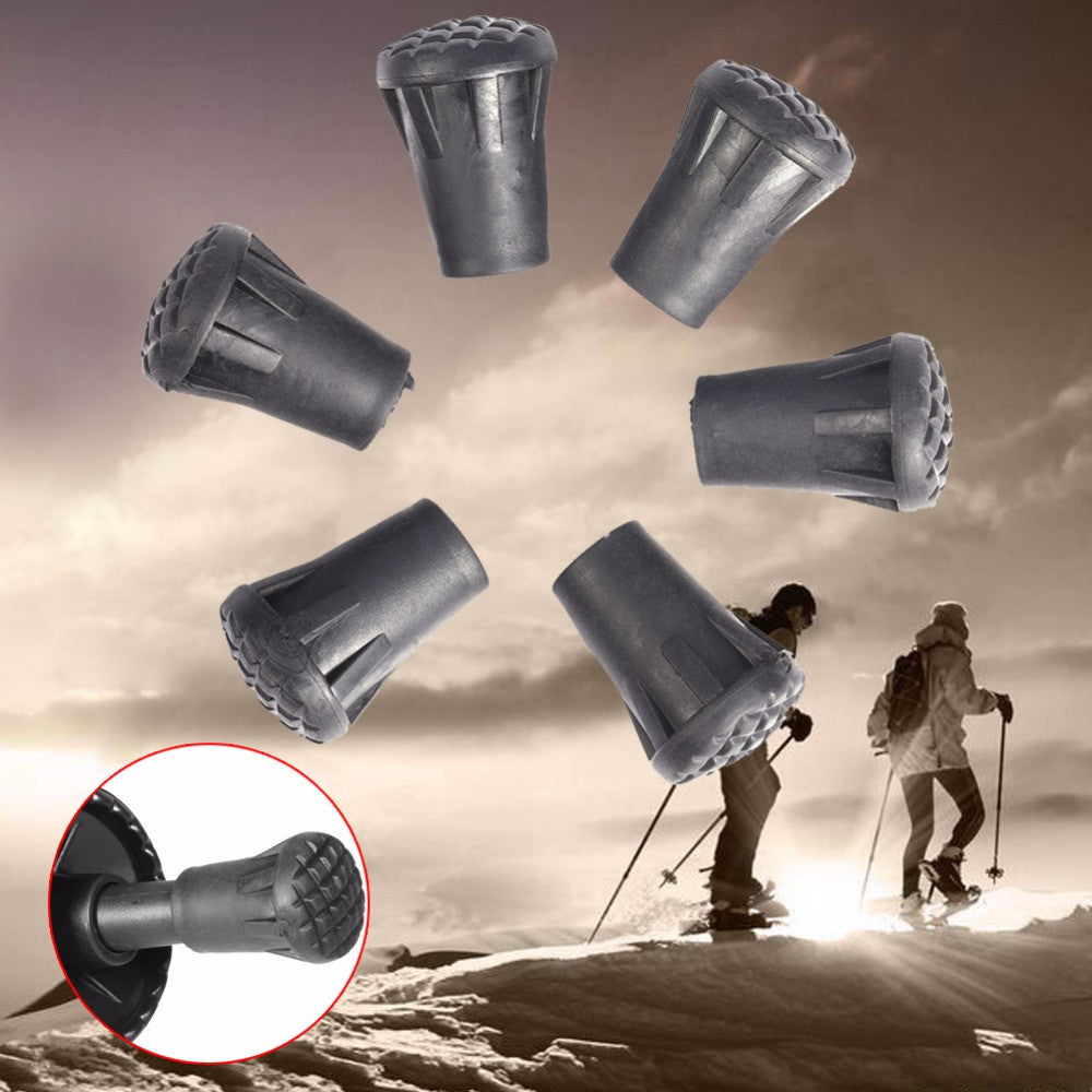 6pcs 33mm Outdoor Hiking Walking Stick Tip End Rubber Caps Replacement Trekking Pole Tip End Walking Stick Cap Cover Protector