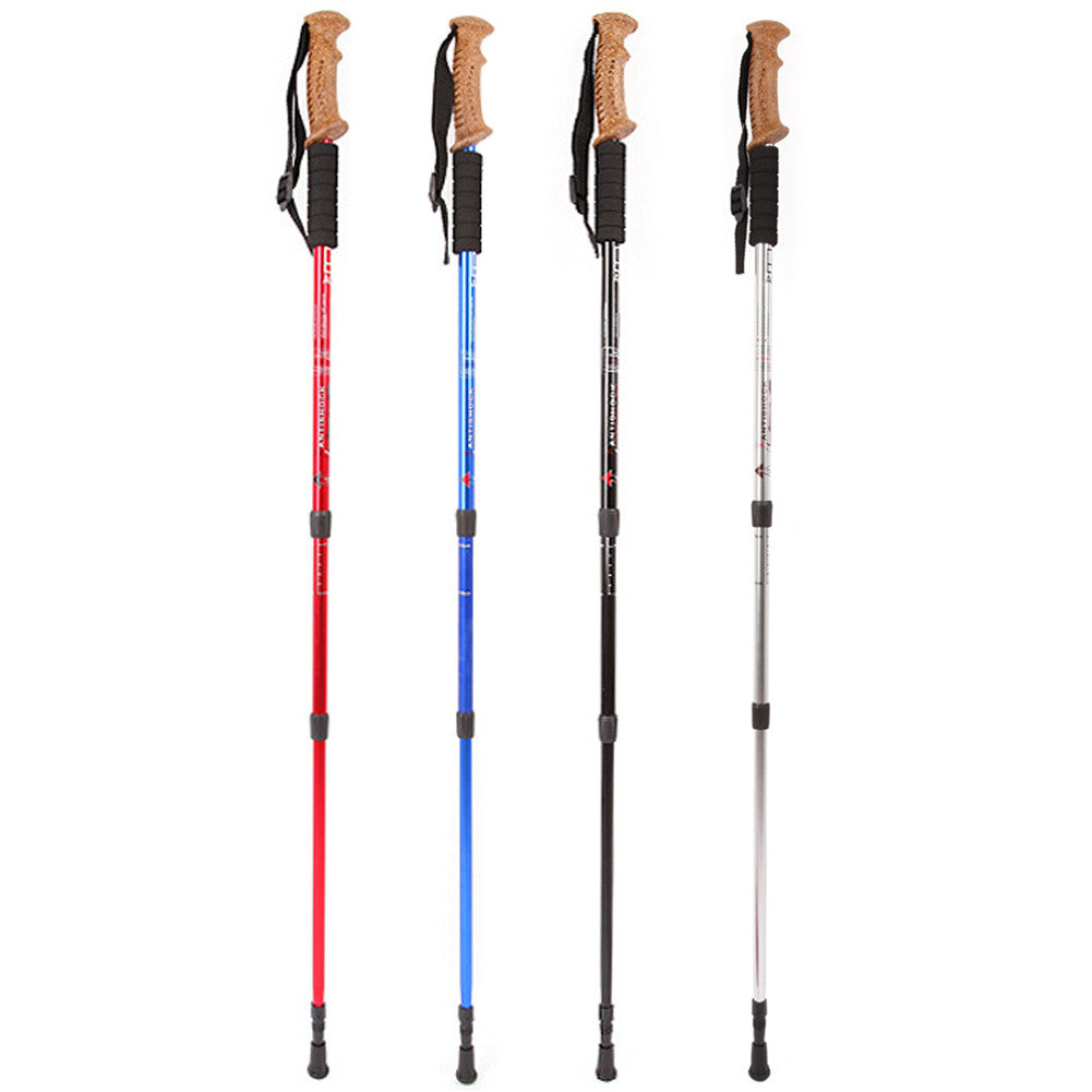 60-135cm Adjustable Length Walking Sticks Hiking Walking Trekking Trail Poles Ultralight 3-section Adjustable Canes