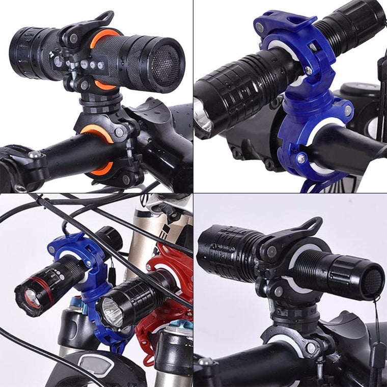 360 Degree Rotation Multi-functional Top List Support Flashlight Lamp Light Bike Handlebar Holder with Box Drop Shipping