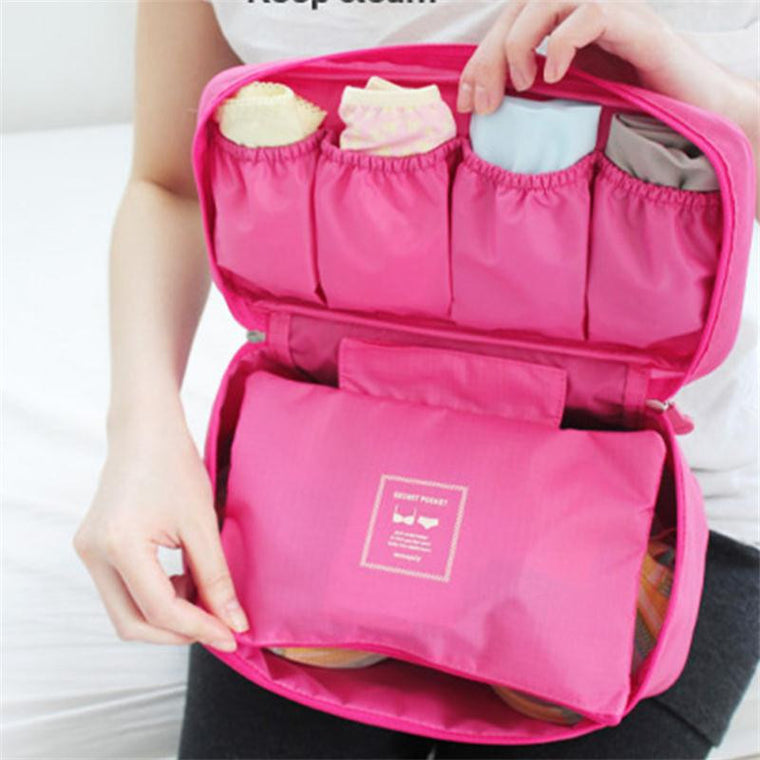 Travel Bags Bra Underwear Lingerie For Women Organizer Trip Pouch Case Suitcase Space Saver Free Shipping Traveling