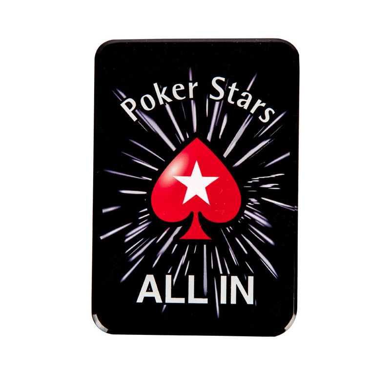 Crystal Poker Chips Poker Stars ALL IN Button Cards Press Button 8.8*5.5*1cm Pokerstars Cards - Allin